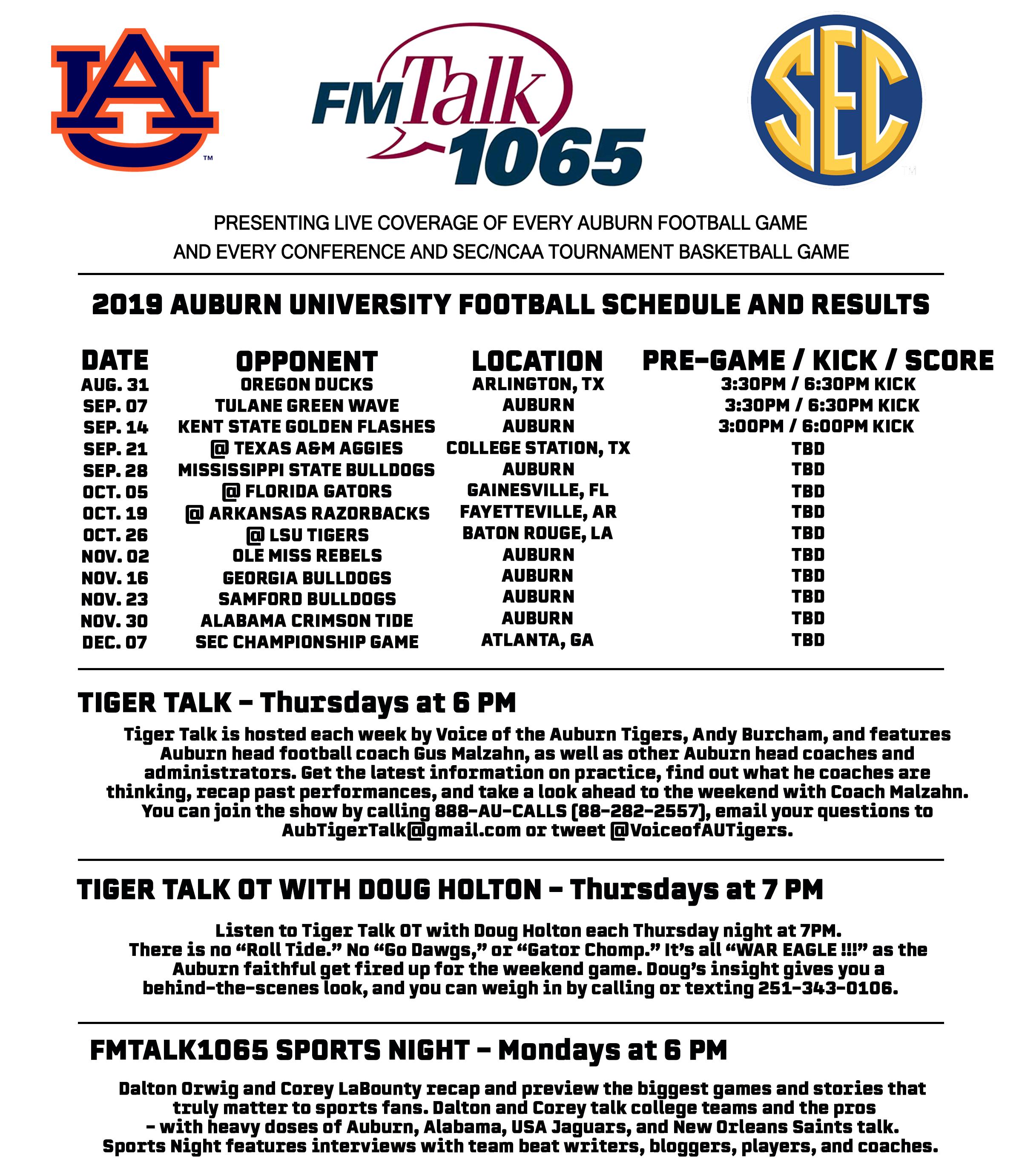 Auburn Sports - FM Talk 1065